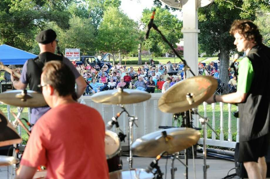 The Chromatics perform for a crowd, part of Concerts in the Park at Stevenson Park Friday, 6/24.