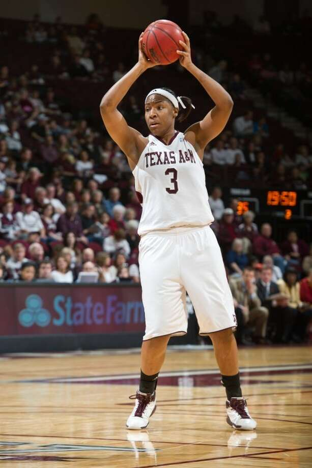 Dulles grad Kelsey Bone had 14 points, 15 rebounds and seven assists in two NCAA Tournament victories for Texas A&M. The Aggies play Maryland in the Sweet 16 on Sunday morning. Photo: Texas A&M Media Relations