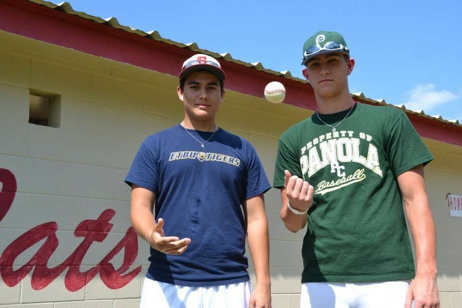 Splendora's Jordan Coaliron, left, and Tyler Stallings have both committed to play collegiate baseball starting next year. Coaliron will suit up for East Texas Baptist University while Stallings is headed to Panola Junior College. Photo: Photo By Stephen Whitfield