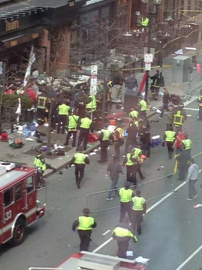 Mark Provenzano captured this photo after the blasts at the Boston Marathon from the Mandarin Oriental Hotel.