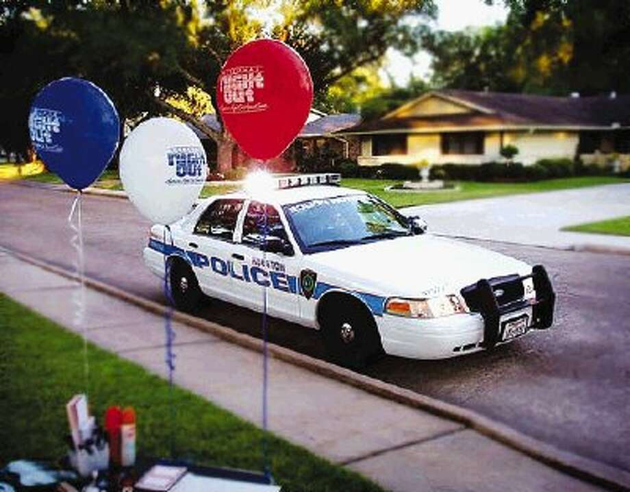 Houston Police encourage community involvement with informative public meetings and programs like National Night Out.
