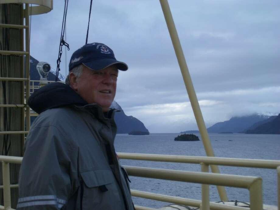 Rice University scientist John Anderson aboard the Nathaniel B. Palmer. Photo: RICE UNIVERSITY