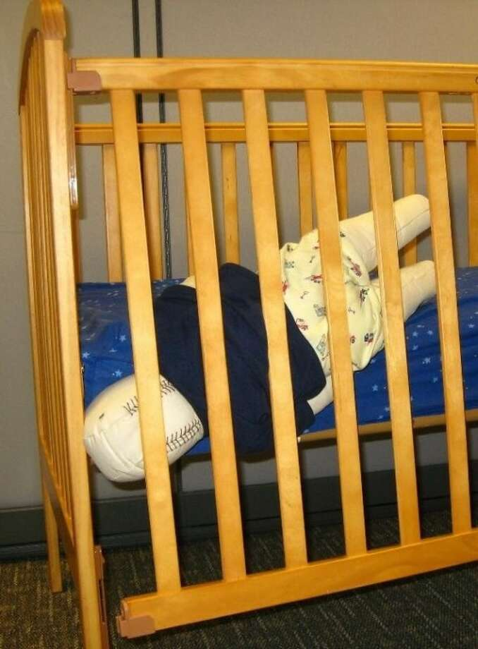 When crib hardware loosens, it creates a gap where infants and toddlers can become trapped. Photo: U.S. CPSC
