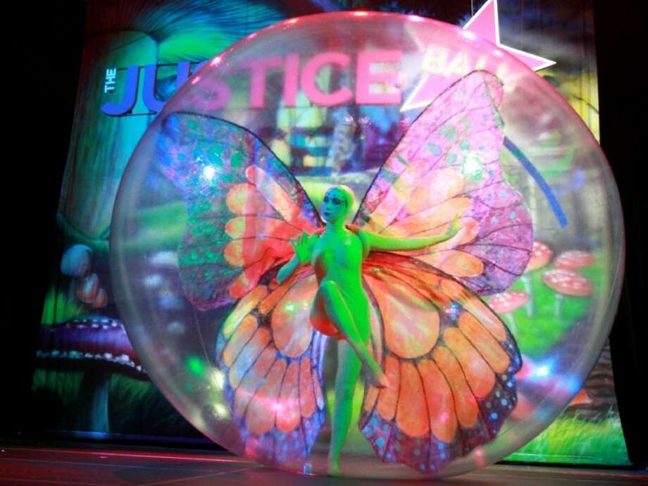 Extravagantly costumed professional dancers, dressed like butterflies, will provide Cirque du Soleil-style entertainment within 10-foot bubbles at this weekend's Nature Fest in Bridgeland.