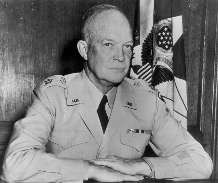 Gen. Dwight D. Eisenhower, shown in 1947, was formally named to be supreme commander of an integrated European force against aggression [NATO forces] on December 19, 1950. President Truman made the appointment at the request of the North Atlantic powers. Gen. Eisenhower was supreme commander of Allied troops in World War II.