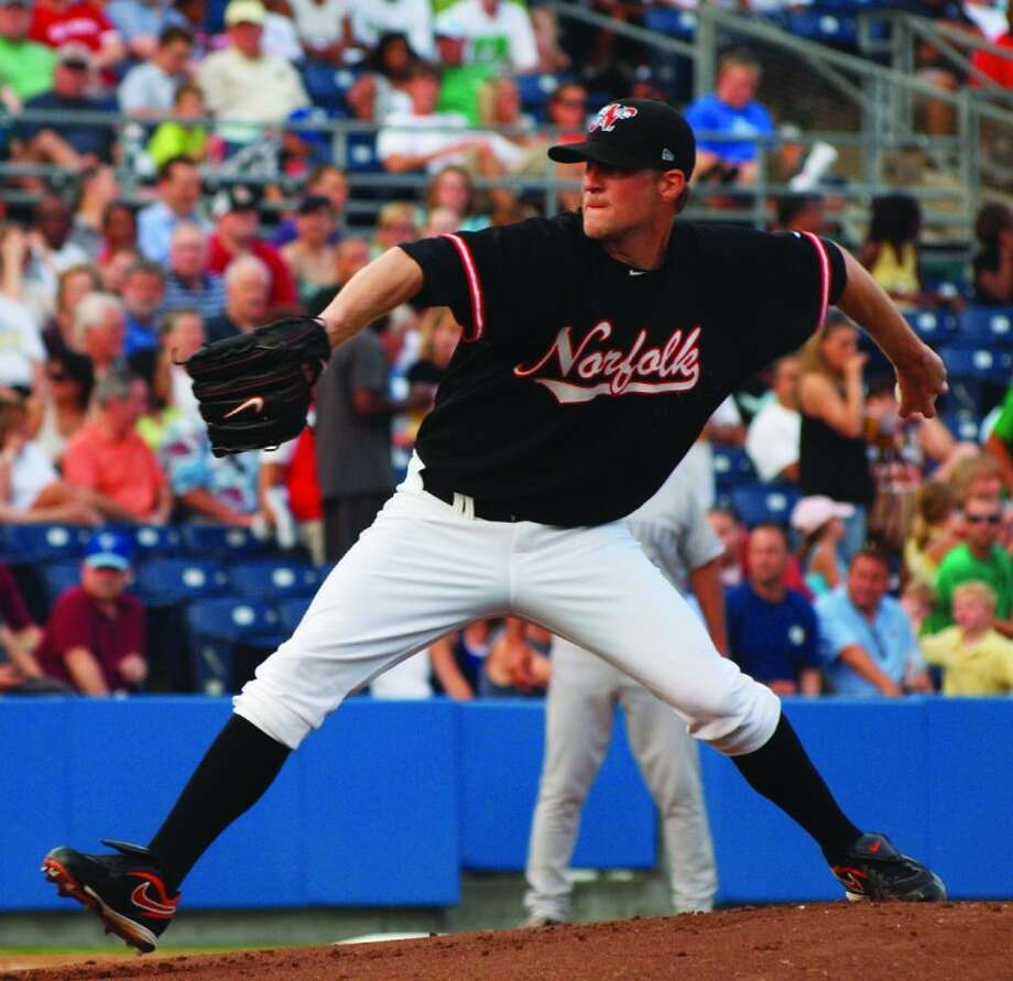 Tomball High School graduate Troy Patton is 3-1 with a 2.43 ERA in relief at Triple-A Norfolk. Photo: Crystal Spyck