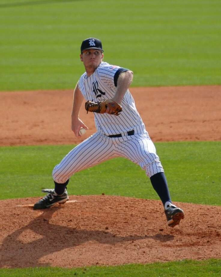 Rice senior starting pitcher Matthew Reckling (Kinkaid) allowed two runs on 10 hits and struck out 23 in his first 22 innings of the 2012 season. Photo: Rice Sports Information