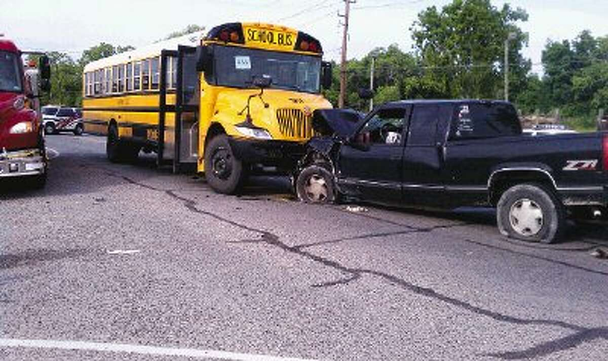 Ten people, including children, were hospitalized after an accident involving an Huffman ISD school bus Thursday afternoon.
