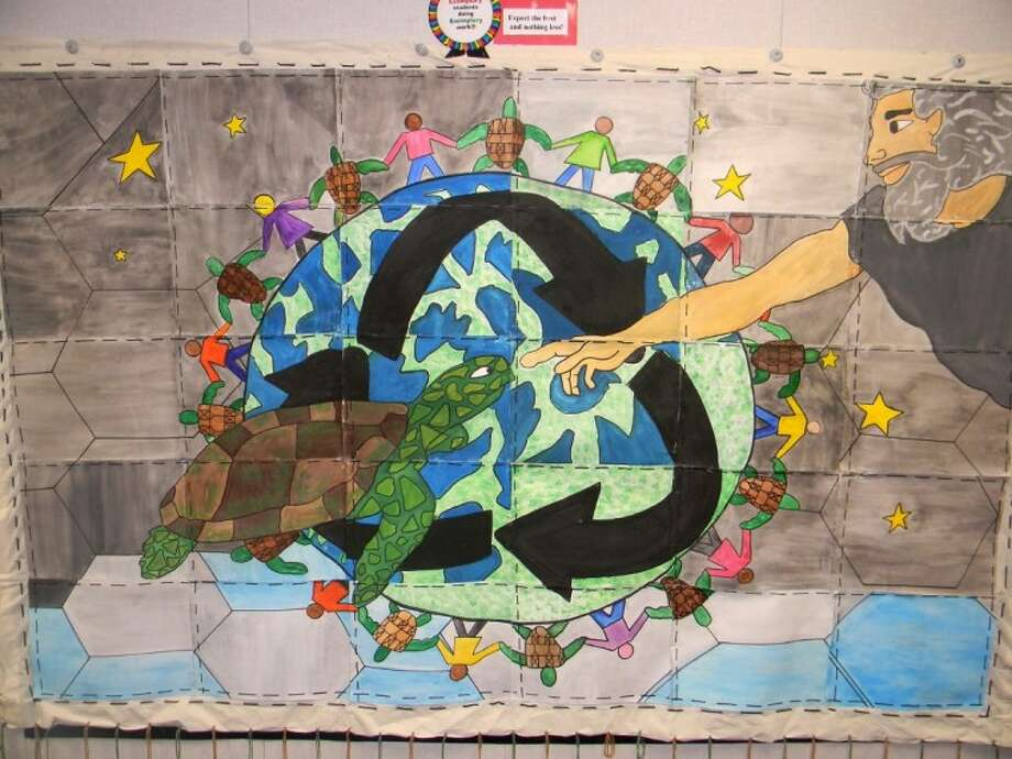 The award-winning mural created by the Marshall CSTEM Feeder Pattern team. Photo: Submitted Photo