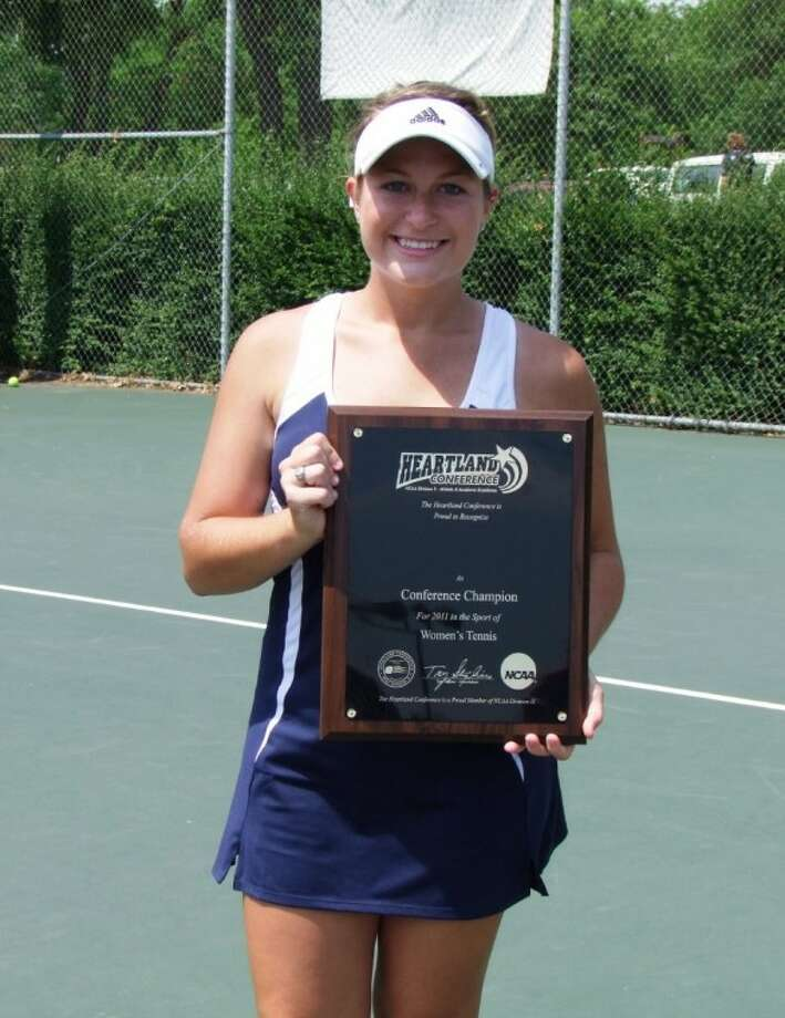 Laura Atkins, a former Pearland High School tennis player, recently led Dallas Baptist University to its third consecutive national championship. Photo: SUBMITTED PHOTO