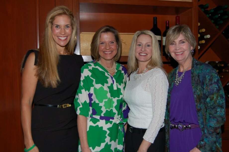 From left: Missy Herndon and Susie Lipscomb, co-chairs for Giving Goes Glam; Shelli Moran, operating partner of Fleming's Prime Steakhouse & Wine Bar in The Woodlands; and Mary Jo O'Neal of Interfaith of The Woodlands.