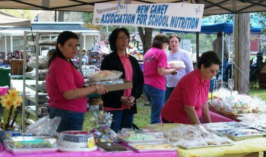 The New Caney Association for School Nutrition helped raise funds at the Roman Forest Founders Day Celebration by having a bake sale.