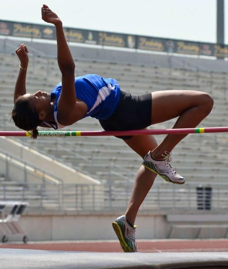 New Caney freshman Brittany Wade qualified for regionals with a third-place finish in the high jump. Photo: Photo By Stephen Whitfield