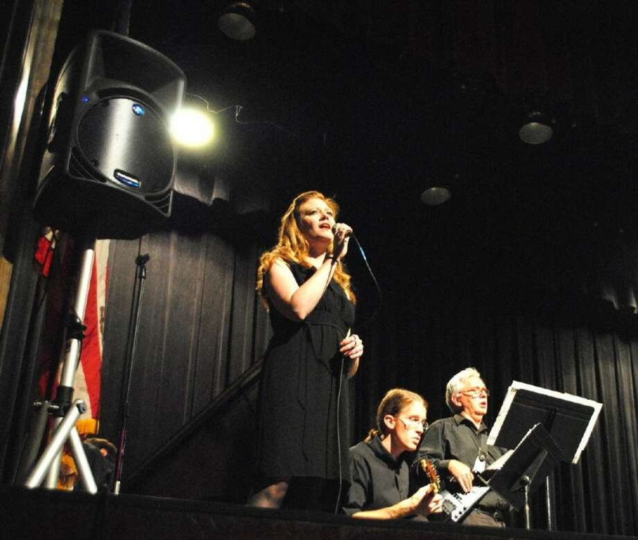 ACC Faculty Combo members from left, Shelley Auer, Tim Salter and musician Steve Riner perform How Deep is the Ocean during the Spring Jazz Concert on April 23 at the ACC Theatre. Photo: ACC