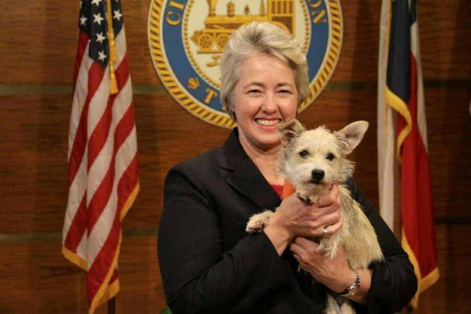 Mayor Parker and Tiarra, the Mayor's Dog of the Week