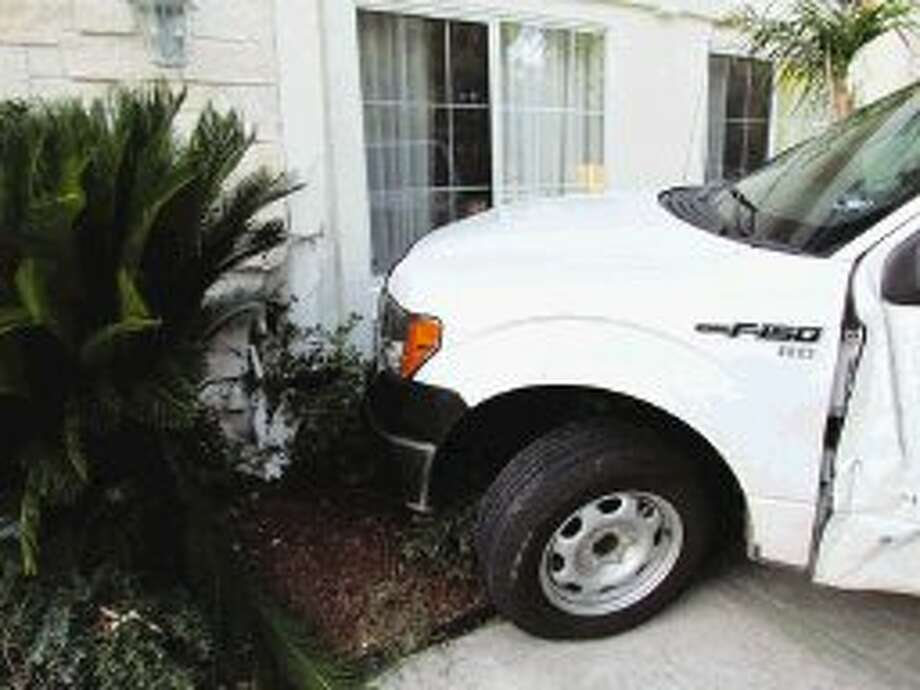 A suspected drug dealer smashed a stolen pickup truck into the freshly painted wall of a La Quinta hotel room in an effort to escape authorities.