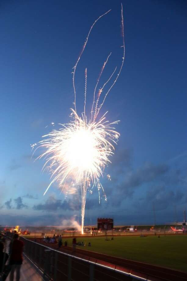 Fireworks go off July 4 last year during the climax of Waller's Freedom Fest. The event has been expanded to three days this year and includes an arts and film festival on Saturday and Sunday.