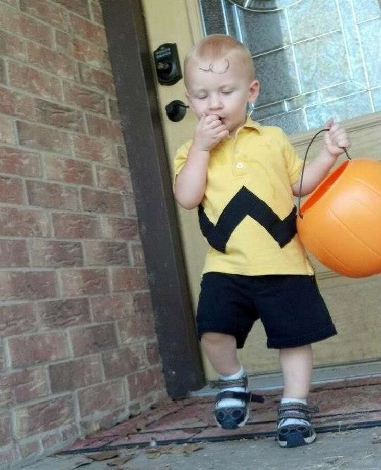 With the family's permission, the Advocate is posting this photo of 20-month-old Marshall Ward, who was tragically killed in an accident at his home in Tarkington around 5 p.m. Wednesday, April 16. He was the son of Jason and Leah Ward, both of whom are Tarkington volunteer firefighters. This photo was one that was submitted to the Advocate's Halloween costume contest last year.