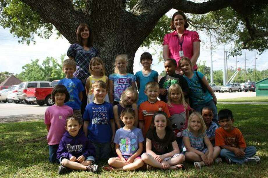 Mrs. Stacey Williams' class raised the most money, 624.36, for Stephen F. Austin's Pennies for Patients drive. The efforts raised money for Cancer research. Of the total amount raised, student Shelby Herring raised 556. Shown on the back row, from left to right, are Susan Smith, the school's registered nurse, and Stacey Williams. The students in the class include: Kylie Bishop, Kacie Dear, Aubrey Greathouse, Buford Hathcoat, Shelby Herring, Morgan Johnson, Meagan Maass, Keliyah Martin, Kaden Moore, Sarah Petters, Gerald Punch, Jr., Adam Resendez, Celestia Sifuentes, Joseph Smith, Shelby St. John, Ravin Wilson.
