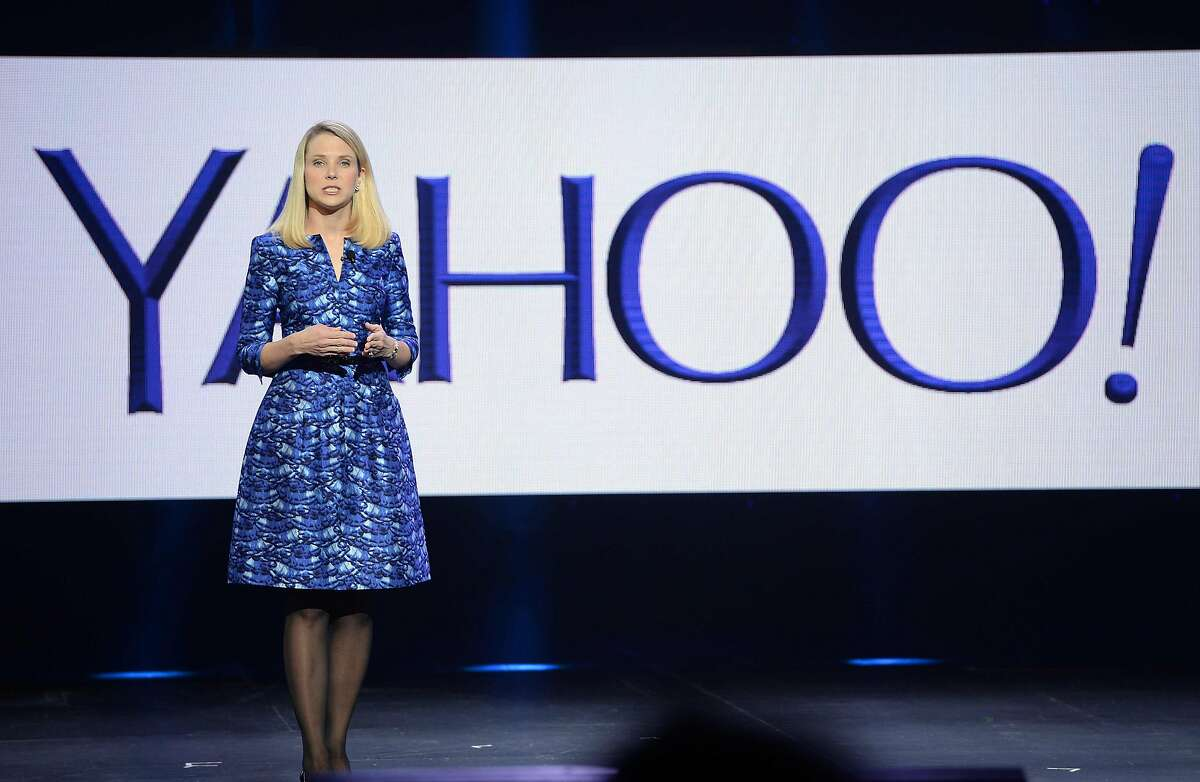 This file photo taken on January 7, 2014 shows Yahoo CEO Marissa Mayer speaking during her keynote address at the 2014 International CES in Las Vegas, Nevada, January 7, 2014.