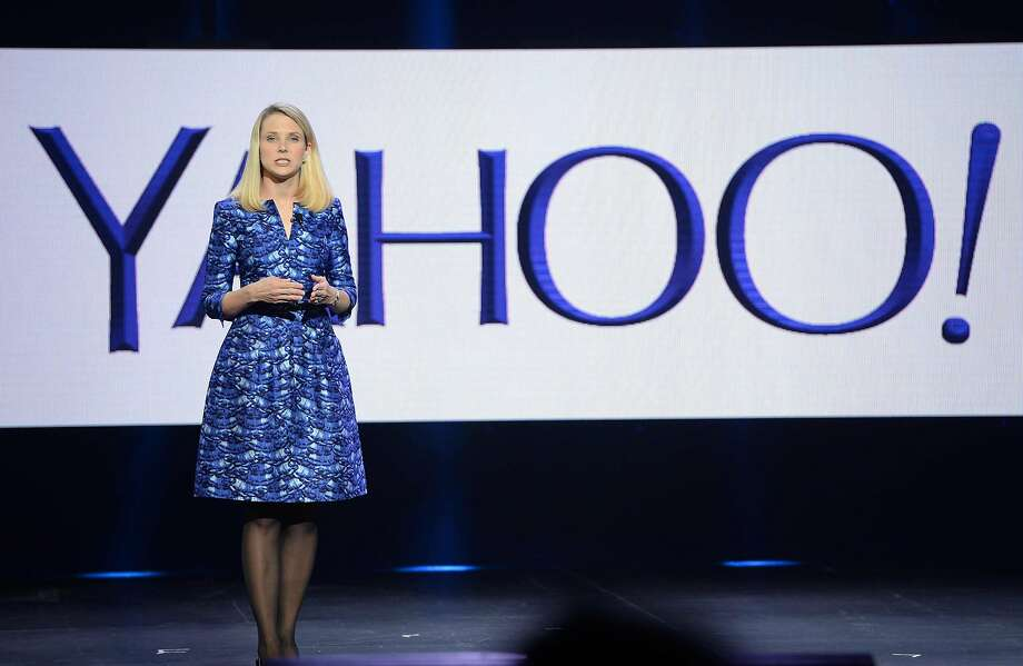 "(FILES) This file photo taken on January 7, 2014 shows Yahoo CEO Marissa Mayer speaking during her keynote address at  the 2014 International CES in Las Vegas, Nevada, January 7, 2014.   Yahoo said on September 22, 2016 that a massive attack on its network in 2014 allowed hackers to steal data from half a billion users and may have been ""state sponsored."" Yahoo, which confirmed details of the breach months after reports of a major hack, said its investigation concluded that ""certain user account information was stolen"" and that the attack came from ""what it believes is a state-sponsored actor."" / AFP PHOTO / ROBYN BECKROBYN BECK/AFP/Getty Images Photo: ROBYN BECK, AFP/Getty Images"