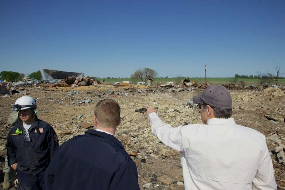 Gov. Rick Perry on Friday toured the disaster zone in West, Texas and met with local officials and state and local emergency responders about relief and recovery efforts underway.