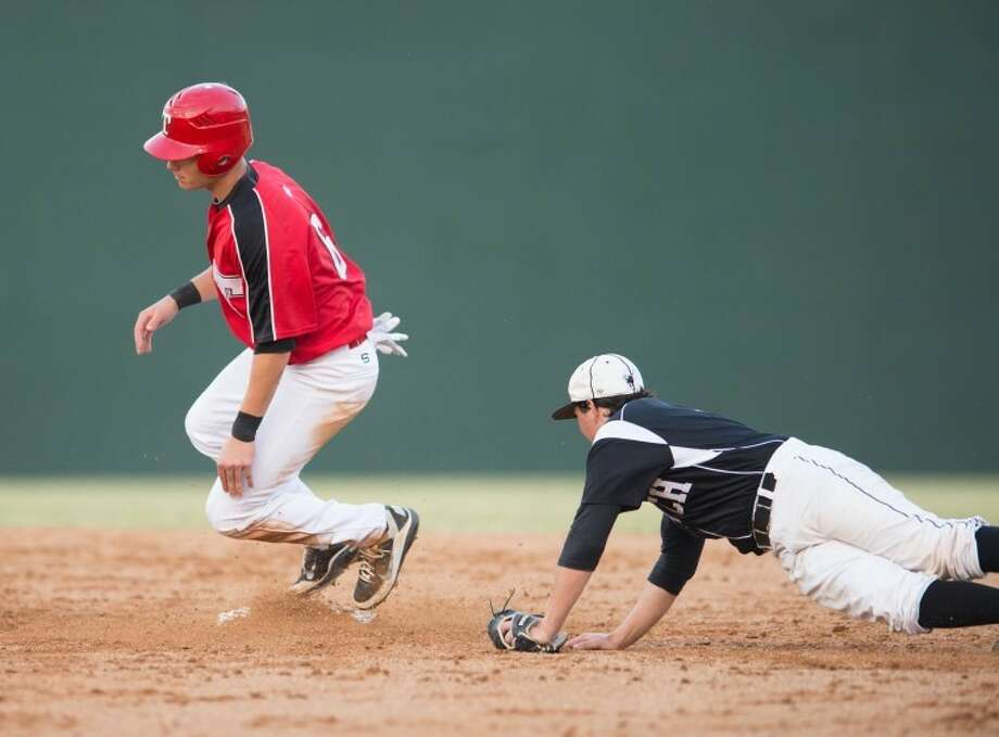 Justin Sebo and St. Thomas held off Bishop Lynch 2-1 on Friday to begin the TAPPS 5A playoffs at Father Wilson Field. Photo: Kevin B Long/GulfCoastShots.com