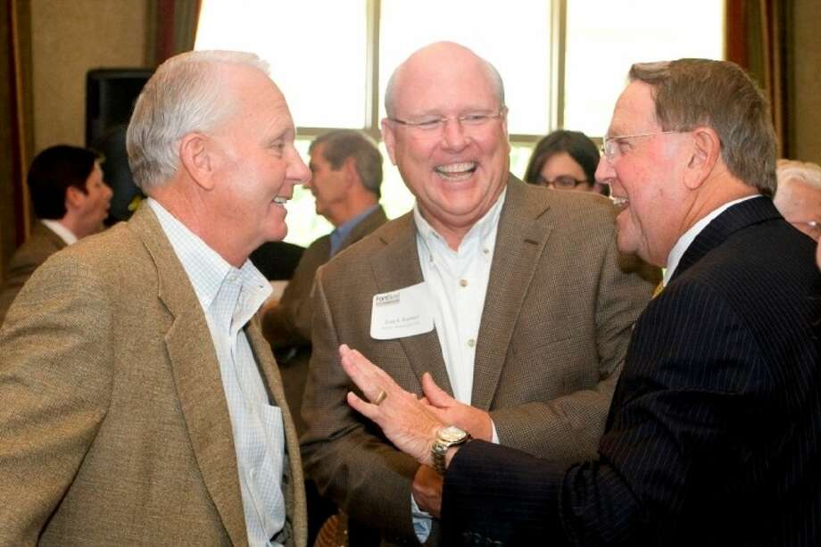 Missouri City recently drew 270 guests for its annual update on projects and services. From left, Sugar Land Mayor Jimmy Thompson, Tom Ramsey and Mayor Allen Owen.