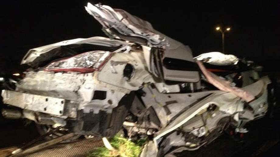 A police chase ends in a crash that killed two and injured a third person in Fort Bend County. Photo: ABC-13