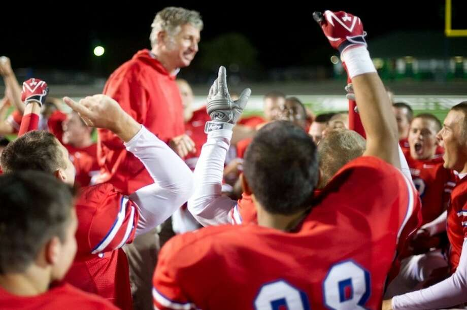 Tomball's Tommy Kaiser was voted Texas Football magazine's 2010 5A Coach of the Year. The Cougars finished 10-3 as area champions. Photo: Submitted Photo