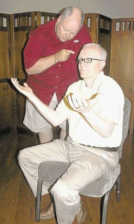 """""""The Odd Couple"""" actors Steve McCurdy (standing) and Sid Davis (seated). Photo: Submitted / @WireImgId=2442655"""