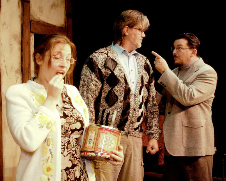 """Elyse Freeman, Mark Jones and Chris Emery in """"Wildest Dreams,"""" a comedy by Alan Ayckkbourn at the Company OnStage, May 3 through June 8. Photo: Kristi Pewthers"""