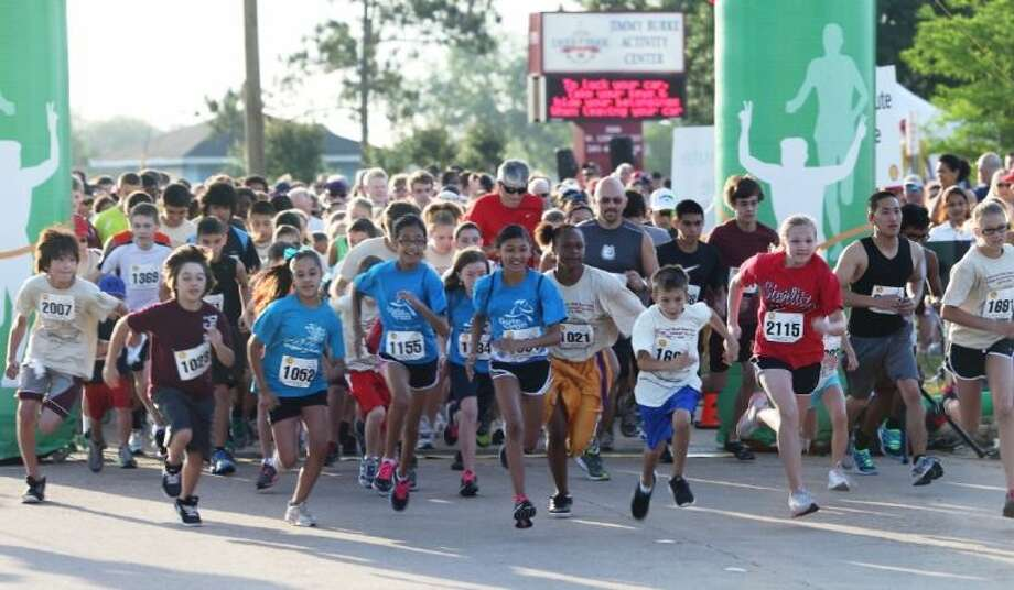 "Hundreds participated in last year's Shell Deer Park ""Strides for Schools"" Fun Run/Walk to raise money for the Deer Park Education Foundation. This year's event will take place Saturday, April 13, at 8:15 a.m. at the Jimmy Burke Activity Center. For more information visit the ""Strides for Schools"" Fun Run website at www.shelldpfunrun.com. Photo: SUBMITTED PHOTO"
