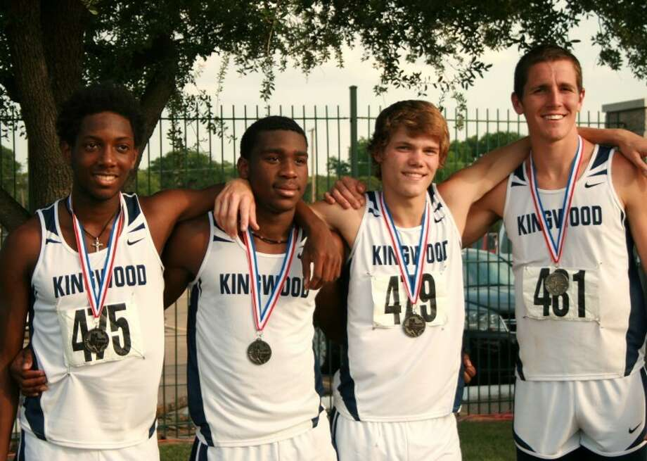 Kingwood Boys 4x400 team captured silver at the Region II 5-A Championships and will be competing at the State meet May 12 in Austin. Pictured from left are Myles Marshall, James Steptoe, Kenny Shirley and Sean Spiehler. Photo: Submitted Photo