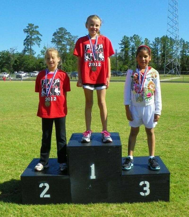 Winners in the K-2 girls division were Finley Straight, first place; Hailey Holmes, second place and Miz Cruz, third place.