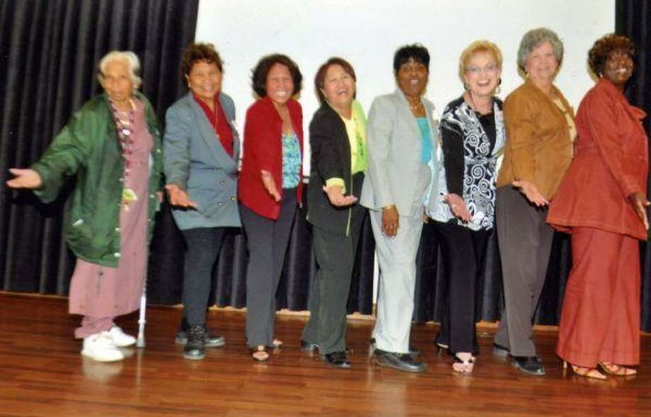 Already enjoying preparation for the Annual Ms. Sr. Pageant 2010, are the nine candidates (l-r) Dr. Premila Vyas, Houston; Asther Steffan, Pasadena; Edeliza Bolton, Friendswood; Cleopatra Villines, Houston; Louise Brown-Hebert, Highlands; Phyllis Barker, Pasadena; Alice Roebuck-Gillaim, Channelview and Saddie Elliot, Houston. Yani Rose Keo of Houston is not pictured. The pageant will be held on Wednesday, March 31, in the Pasadena Convention Center at 7 p.m. Because of sponsorship by Texas Health Spring and the city of Pasadena, there's no admission charge.