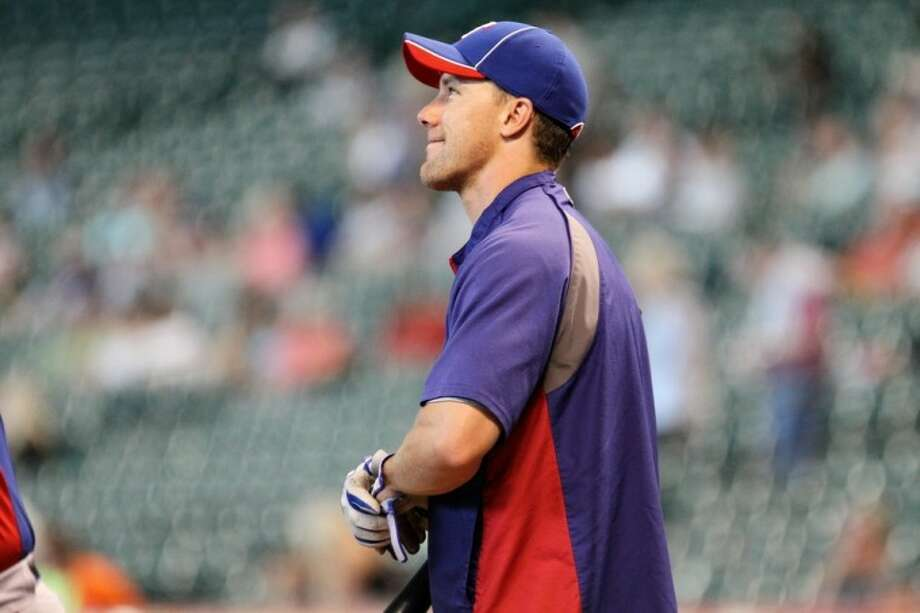 Texas Rangers outfielder David Murphy, a 2000 Klein High graduate, returned to Houston last week to face the Astros. Photo: BY KJWESPHOTOS.COM
