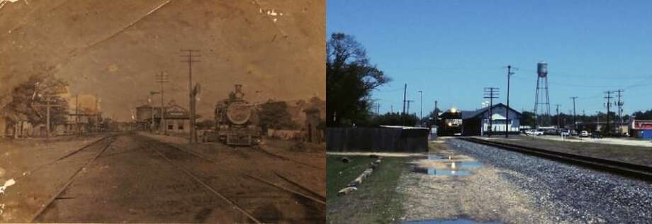 From the earliest days until today the City of Liberty may never have given any easement or right of way to the railroads to cross city streets according to City Attorney Randy Gunter. The vintage photo on the left is used courtesy of the DeBat Family Collection housed at the Sam Houston Regional Library. Photo: CASEY STINNETT