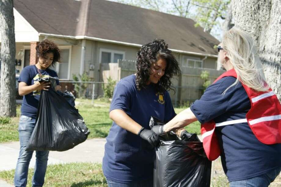 Volunteers at past Humble Beautification Spring Clean-Up event clean around the city. This year's event is scheduled for April 20 from 9 a.m. until 12 p.m.