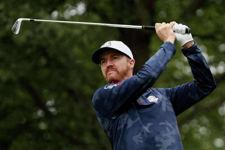 Jimmy Walker of the United States plays a shot during practice prior to the 2016 Ryder Cup at Hazeltine National Golf Club on Sept. 28, 2016 in Chaska, Minn.