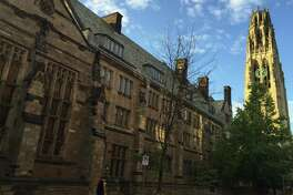 On its inaugural ranking of U.S. universities and colleges, the Wall Street Journal ranked Yale University in New Haven, Conn. fifth overall. The Wall Street Journal derived the rankings from surveys of some 100,000 students nationally as well as other criteria. (AP Photo/Beth J. Harpaz)