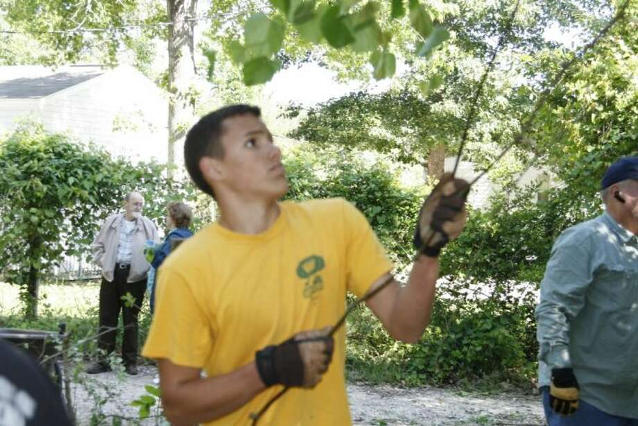 Cole Wilson, a New Caney High School student, chose to clean and restore the historic Presswood Cemetery as a part of his Eagle Scout project. He is a member of Troop #1377 in Kingwood. He and a handful of volunteers cleaned the property April 20.