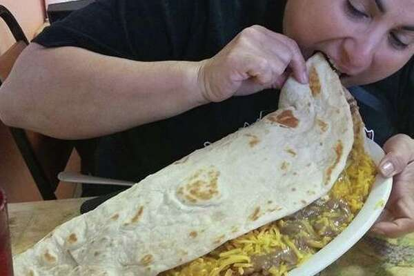 Chachos Tacos in Corpus Christi challenges customers to eat a nearly 4-pound taco in 10 minutes.
