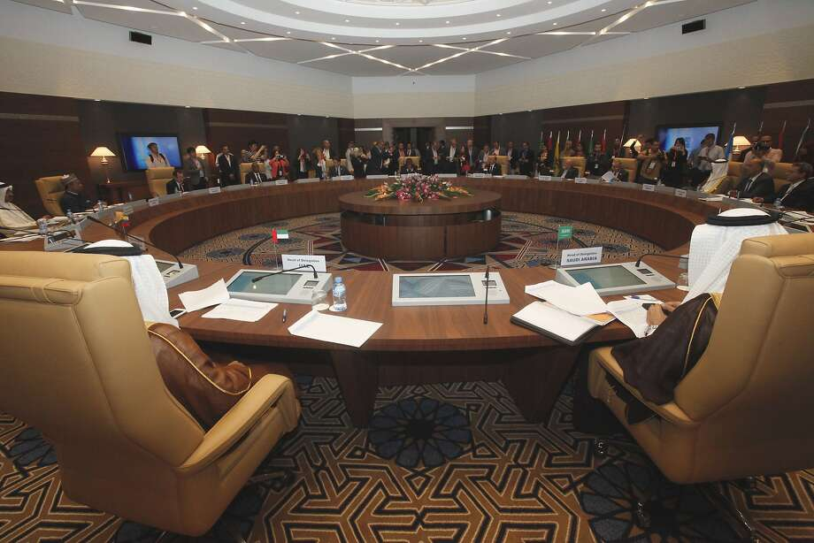General view of a meeting of oil ministers of the Organization of the Petroleum Exporting countries, OPEC, in Algiers, Algeria, Wednesday,  Sept. 28, 2016. Officials from the Organization of the Petroleum Exporting Countries will meet informally on the sidelines of an energy conference in Algiers to try to find common ground on how to stabilize oil markets. (AP Photo) Photo: Associated Press