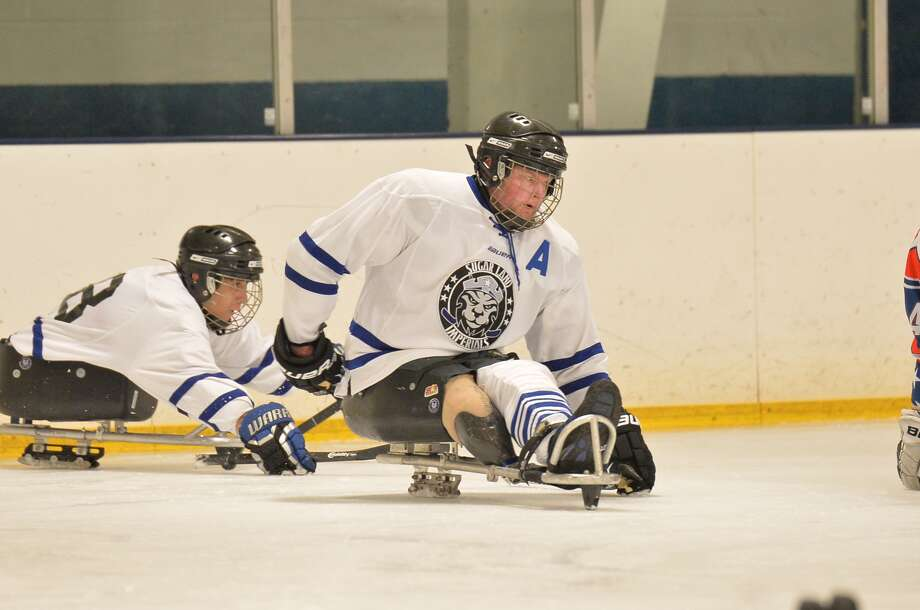 Andy Toppin, a U.S. Army vet, has found a similar team comradery playing sled hockey that he had in the military. Photo: STAR Skaters
