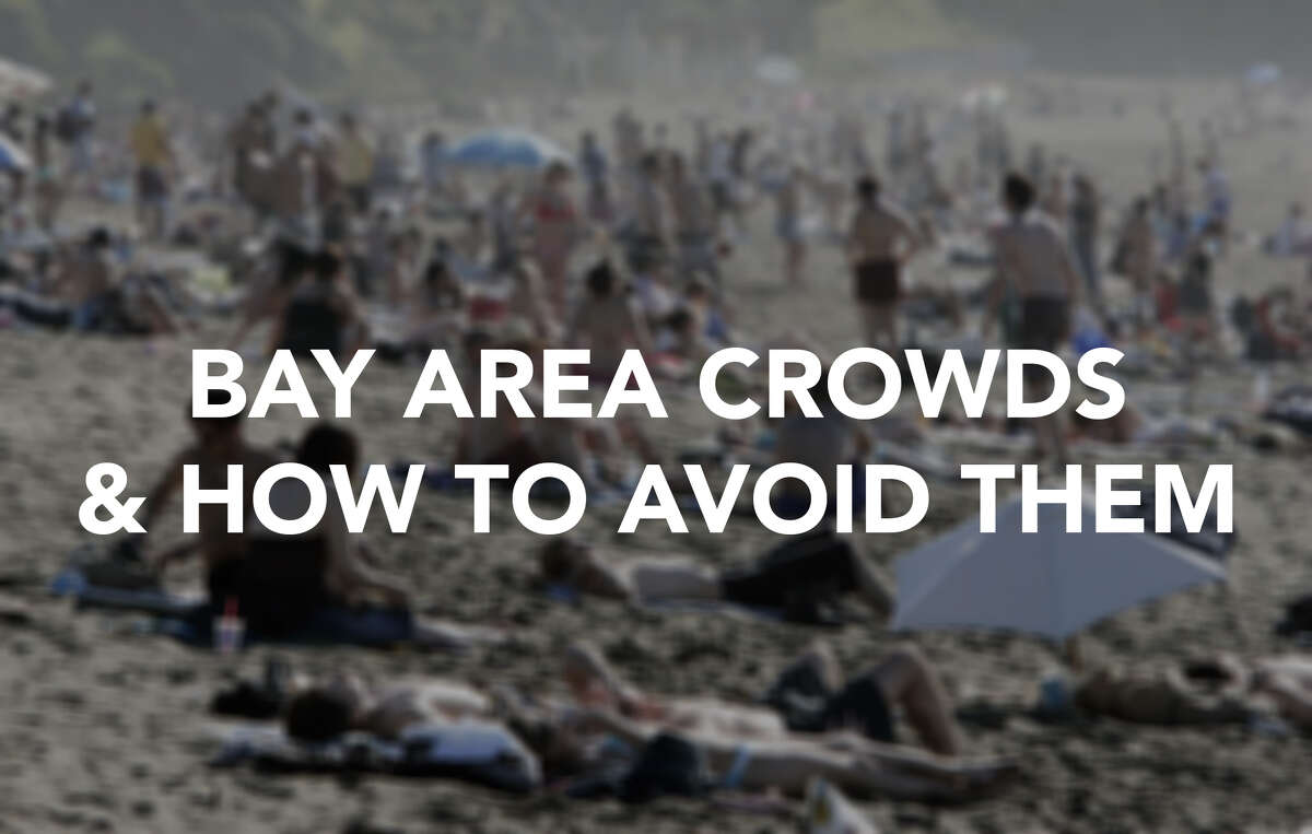 Click ahead to find out where the crowds in the Bay Area are ... if you want to avoid them.
