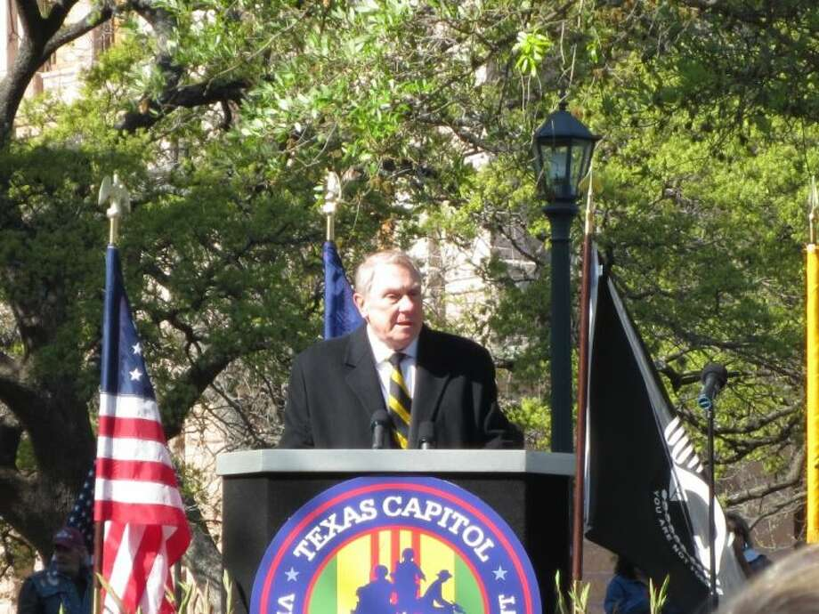 State Representative Wayne Smith (R-Baytown) honored Texas Heroes who served in Vietnam during groundbreaking ceremonies for the Texas Capitol Vietnam Veterans Monument. Photo: SUBMITTED PHOTO
