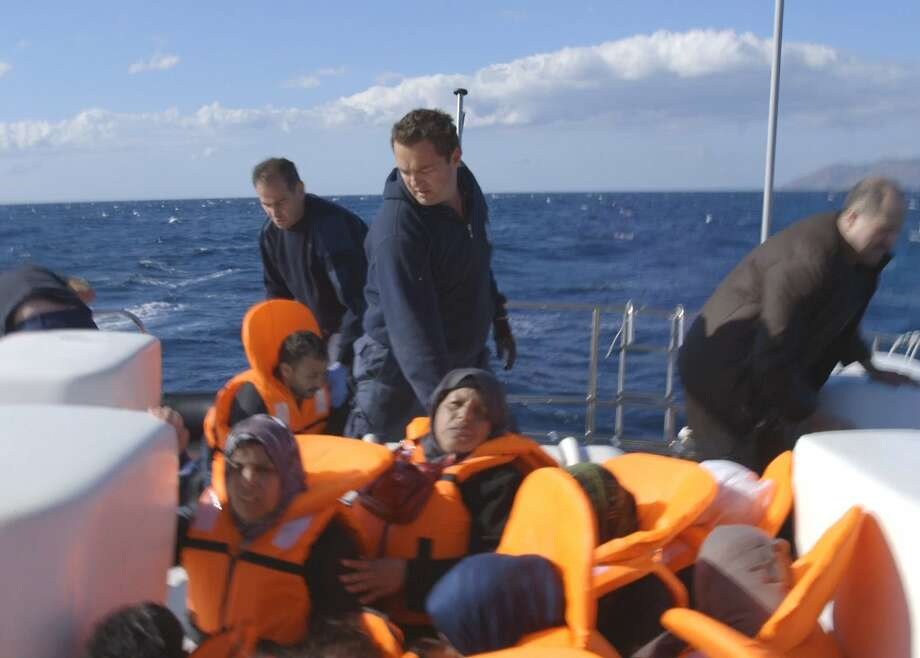 """Flooded Cal student Daphne Matziaraki's Student Academy Award-winning """"4.1 Miles"""" takes viewers on a coast guard boat off a Greek island as its overwhelmed crew tries to cope with the endless flood of refugees pouring in from Turkey. Photo courtesy Daphne Matziaraki. Photo: Photo Courtesy� Daphne Matziaraki."""