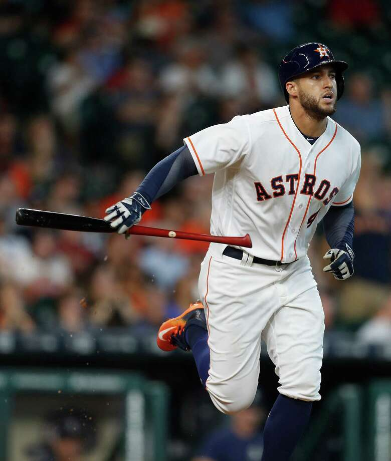 George Springer, 27, is eligible to play for the United States or Puerto Rico, the birthplace of his mother, Laura. Photo: Karen Warren, Houston Chronicle / 2016 Houston Chronicle