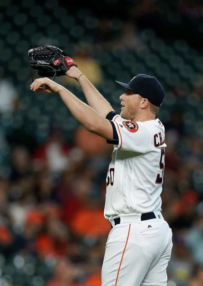 The Astros are removing relief pitcher Kevin Chapman from their 40-man roster. Photo: Karen Warren, Houston Chronicle / 2016 Houston Chronicle